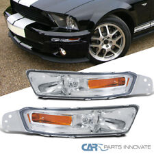 Ford 05-09 Mustang Turn Signal Front Bumper Lights Lamps Clear Lens Left+Right