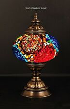 Mosaic Table Lamp, Stained Glass Shade, Turkish Light, Moroccan Lamp Multi-Color
