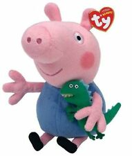 Ty Official Peppa Pig George 6 Beanie Baby Soft Toy 46130