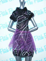 MONSTER HIGH HOME ICK ABBEY BOMINABLE DOLL OUTFIT REPLACEMENT BLACK DRESS ONLY