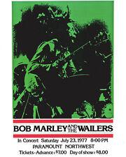 Bob Marley - Wall Art of 1977 Concert Poster - 8x10 Photo