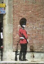 Banksy Pissing Soldier Ed.300 Firma Impresa Ed.numerado a lapiz Spain