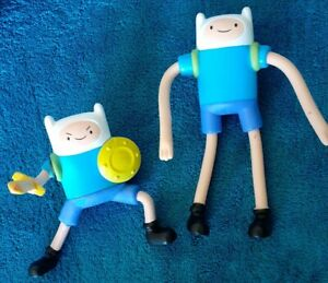 Lot Of 2 Adventure Time Bendable Toy Finn