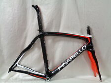 2015 PINARELLO PRINCE ROAD BIKE FRAME FORK HEADSET 54 ORANGE BLACK ONDA TT