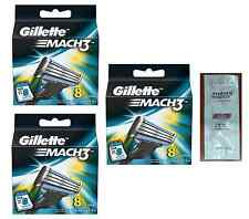 Gillette Mach3 Mach 3 Refill Razor Blades Pack of 24 + Free LovingCare Packet