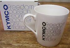 KYMCO Scooter Coffee Mug Cup Freedom Passion TV Motor Fearless New w Box