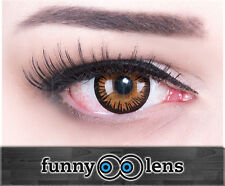 Red Crazy Fun Contact Lenses For Halloween And Carnival Lens Case Eternal Amber
