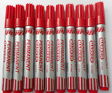 10 x BEIFA BULLET TIP RED PERMANENT MARKER PEN 2mm TIP