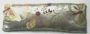 Butterfly Embroidered Sleep/Migraine Remedy Satin Eye Pillow Lavender/Linseed