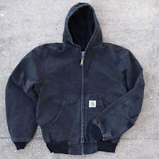 Vintage Carhartt Active Jacket Men's Medium Black Lightweight Thermal Lined USA