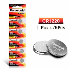 5pcs  Panasonic CR1220 Button Cell Batteries CR 1220