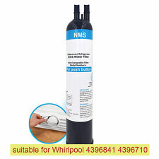 Whirlpool 4396710 4396841 P Refrigerator Water Filter Pur Push Button Compatible