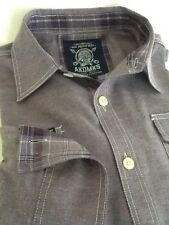AKDMKS Shirt Mens Long Sleeve Button Front   *** Size: Large***