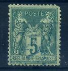 FRANCE N° 75 SUPERBE ET RARE CACHET JOUR DE L'AN GC 1496 BLEU