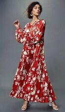JOHANNA ORTIZ X H&M VOLUMINOUS SATIN RED SUMMER DESIGNER BLOGGER FAV DRESS SZ S