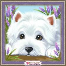 Mosfa Diamond Painting Kit - Hide & Seek - Dog - West Highland Terrier - AZ-1639