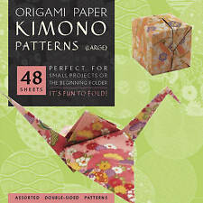 "Origami Paper - Kimono Patterns - Large 8 1/4"" - 48 Sheets: Tuttle Origami Paper"