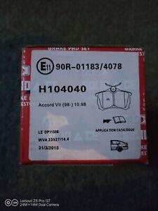 Honda Accord Mk5 Saloon 1993-1998 2.0 2.2 2.3 Front Brake Pads Set W149-H58-T18