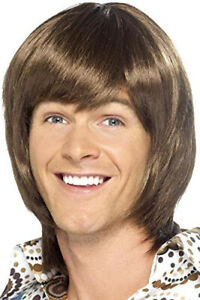 Smiffys Adult 70's Party Heartthrob Wig - Brown Lining: a synthetic fiber
