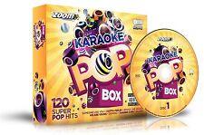 Cdg - Zoom Karaoke Pop Box 1 - 6 Cdgs 120 Songs - FREE P&P