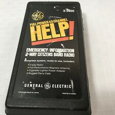 GE 3-5900 HELP 40 Channel Emergency Information CB Radio Vintage