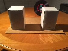 Realistic Minimus-7 White Metal Cabinet Bookshelf Speakers Cat. No. 40-2030C 40W