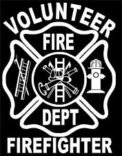 Volunteer Fire Fighter Vinyl Decal Sticker Car Truck Window*buy 2 get 1 free*