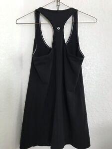 Lululemon Racerback tank top size 8 ? athletic gym sleeveless shirt black
