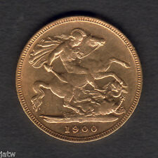 Australia.  1900 Melbourne Half Sovereign..  Part Lustre..  VF/gVF