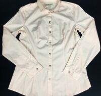 Burberry London (Body) Women's Blush Long Sleeve Button Up Collared Shirt Size M