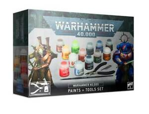 Warhammer 40.000: Farben + Werkzeugset/ Paints + Tools Set 40k Citadel