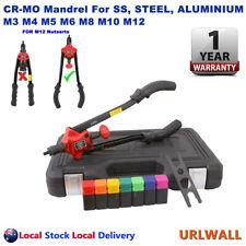 Nutsert Tool Kit Rivnut Rivet Nut Gun Cr-mo Mandrels M3 to M12 Carry Case