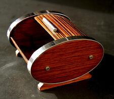 Carl Auböck, rare elliptical-form, roll top cigarett box,Rollladen Dose, 30er/s