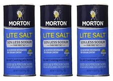 Morton Salt Lite Salt, Less Sodium, 11 oz (Pack of 3)