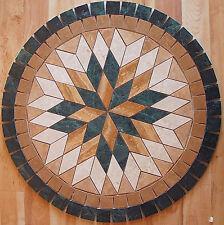 """Floor Marble Travertine Tile Medallion Design Stone 32"""" #51a"""