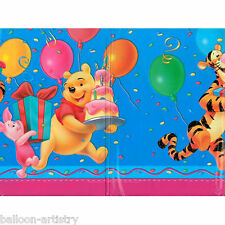 180cm Disney Winnie The Pooh Blue Honey Paper Disposable Plastic Table Cover
