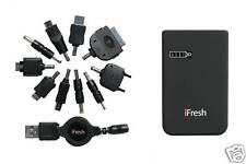 Universal Cell Phone Battery Charger - Multiple Connectors - Portable/External