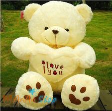 Free Shipping 27'' Love Heart Teddy Bear Plush Stuffed Animal Doll Soft Toy Gift