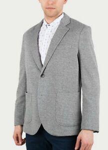 $450 Luxury Brooks Brothers grey soft textured double-knit jacket blazer men L