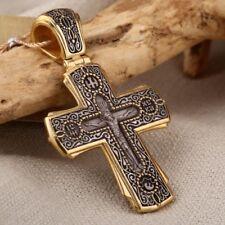 Kreuz Silber 925 vergoldet 999° Anhänger Kasaner Ikone der Mutter Gottes Russia