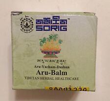 Tibetan Herbal Sorig Aru Balm for sinus blockages headaches cold&flu muscle pain