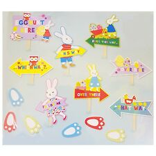 Easter Bunny Egg Hunt Kit - 14 piece including Pointer Signs and Foot Prints