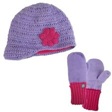 Free Country Girl'S Knit Hat & Glove Set,Purple/Pink,L/Xl