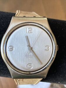 SWATCH 34mm Silver Face 5755 Swiss Made