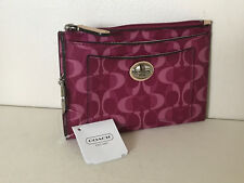 NEW! COACH PEYTON DREAM C MEDIUM SKINNY CARD WALLET & KEY HOLDER BORDEAUX TAN