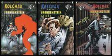 Kolchak Tales Frankenstein Agenda Comic Set 1-2-3 Lot Moonstone Night Stalker