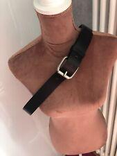 """Ossi para hombre de cuero regenerado cinturón Negro Estilo cintura grande de 36"""" - 40"""" no 5066"""