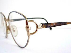 GUCCI GG 2349N N59 Women's Eyeglass Frames Gold 56-15-130 Vintage 90s Italy NOS