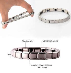 Germanium Stone Titanium Health/Healing/Relief Magnetic Expandable Bracelet