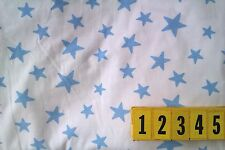 Soft Cotton Jersey Knitted Fabric Blue Star Print - 150cm Wide by DCF